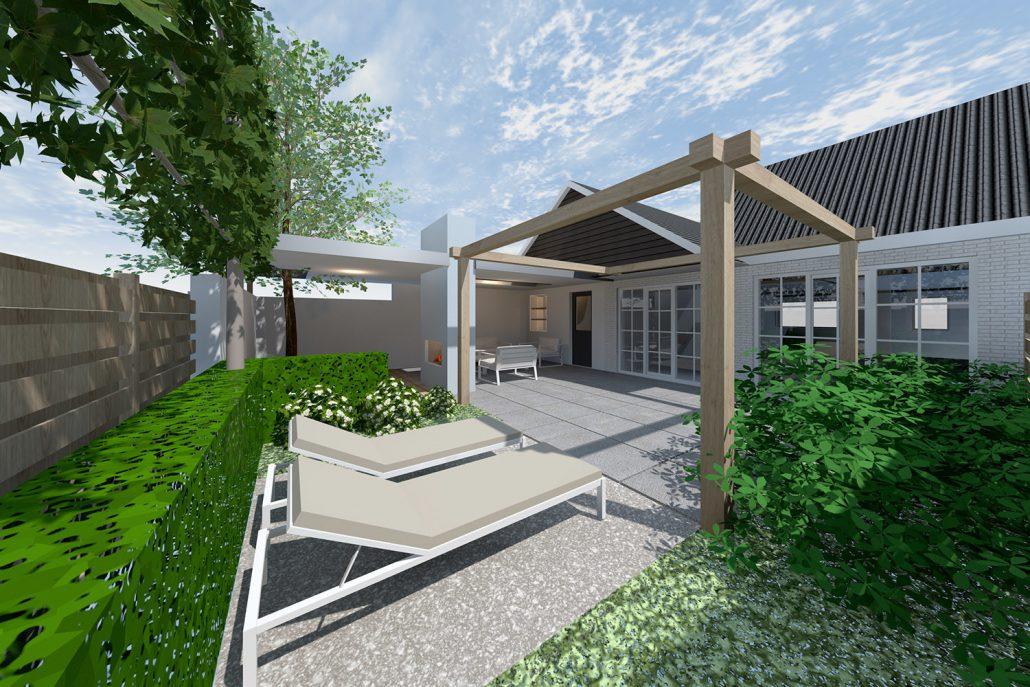Tuinontwerp met jacuzzi braamhaar ankon for Moderne tuin met jacuzzi